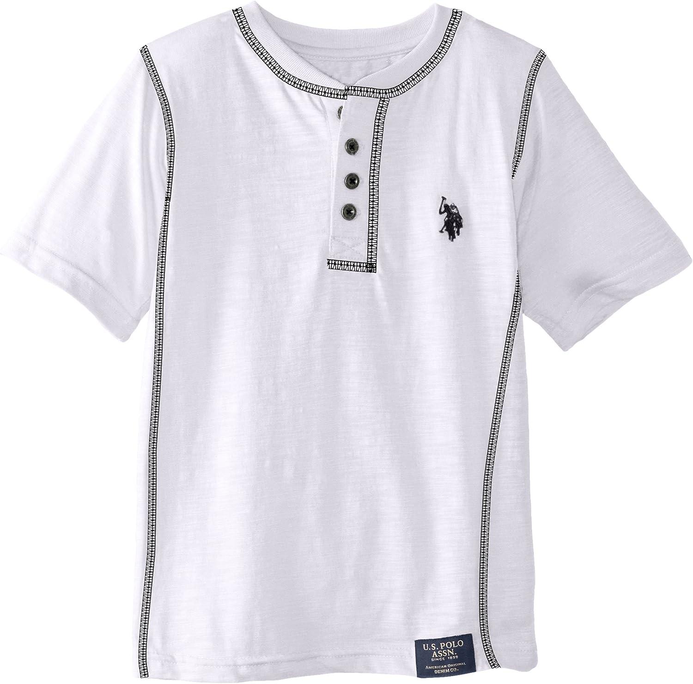 U.S. Polo Assn. Big Boys' Slub Jersey Short Sleeve Henley