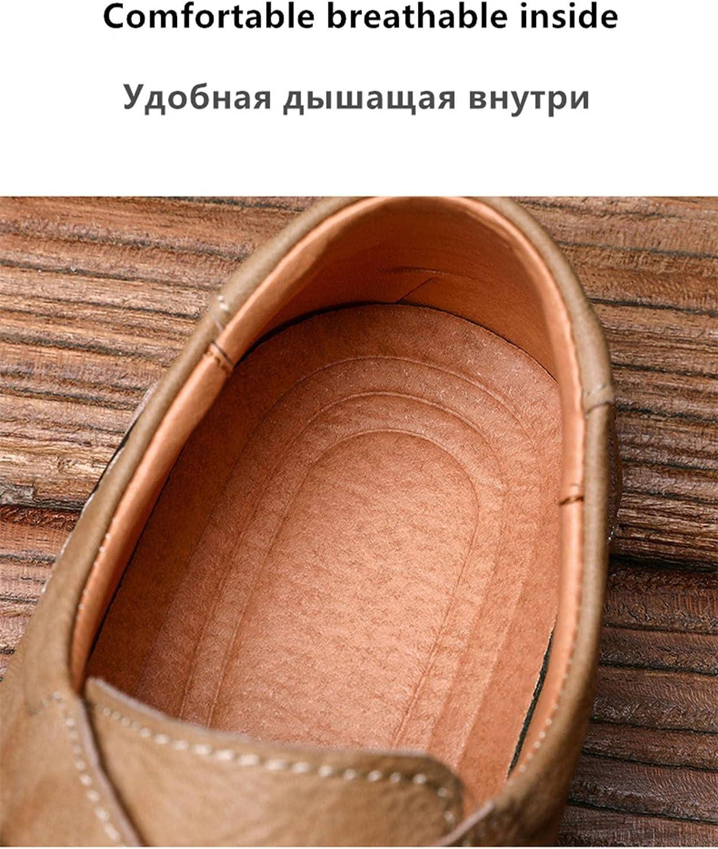 2021 New Men' S Shoes Quality Split Leather Men Loafers Breathable Men's Casual Driving Oxfords Shoes Men Flatsshoes Moccasins Shoes