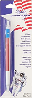 Fisher Space Pen, All Metal Space Pen with American Flag Design, Black Ink, Fine point (SAFP5)