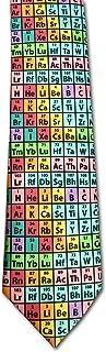 Periodic Table of Elements Chemistry Necktie Rainbow Microfiber