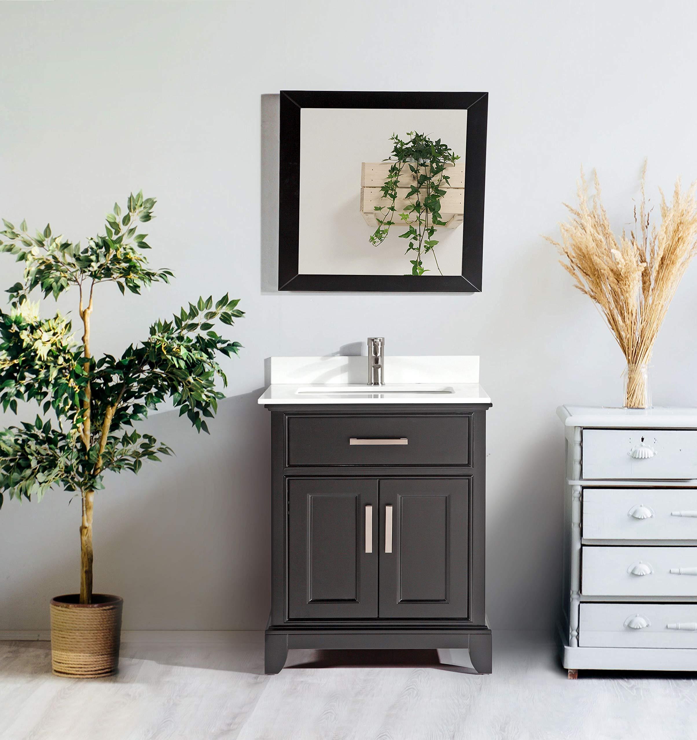 Vanity Art Bathroom Vanity Set White Super Phoenix Stone Top Soft Closing Doors Undermount Rectangle Sink Cabinet With Free Mirror Amazon Com