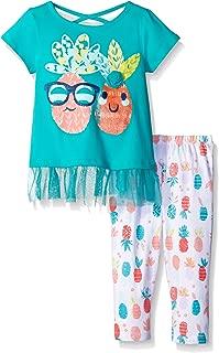 Kidtopia 女童 W/裙子及菠萝印花打底裤束腰外衣套装