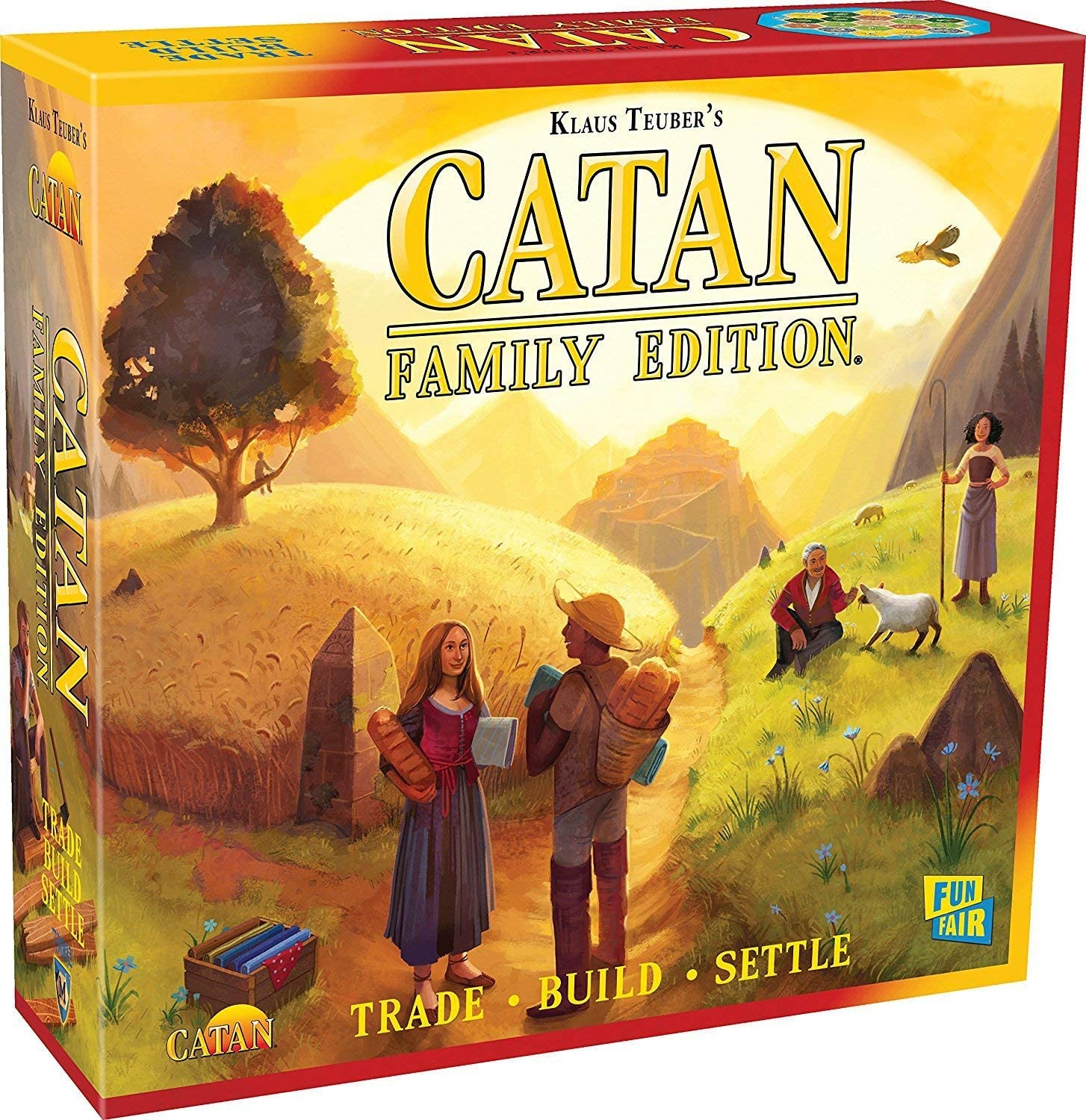 CATAN Family Edition Board Game | Family Board Game | Board Game for Adults and Family | Adventure Board Game | Ages 10+ | For 3 to 4 players | Average Playtime 60 minutes | Made by Catan Studio