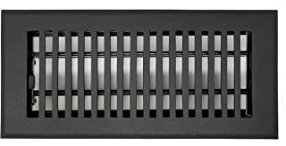 Madelyn Carter Contemporary Floor Registers Flat Black