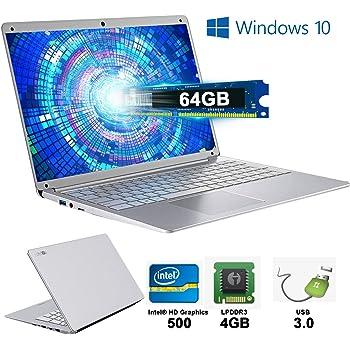 Notebook Portatile 14,1 Pollici 4 GB RAM & 64 GB Memoria Windows 10 PC Portatile WI-FI 2.3Ghz Laptop PC 1920 x1080 IPS