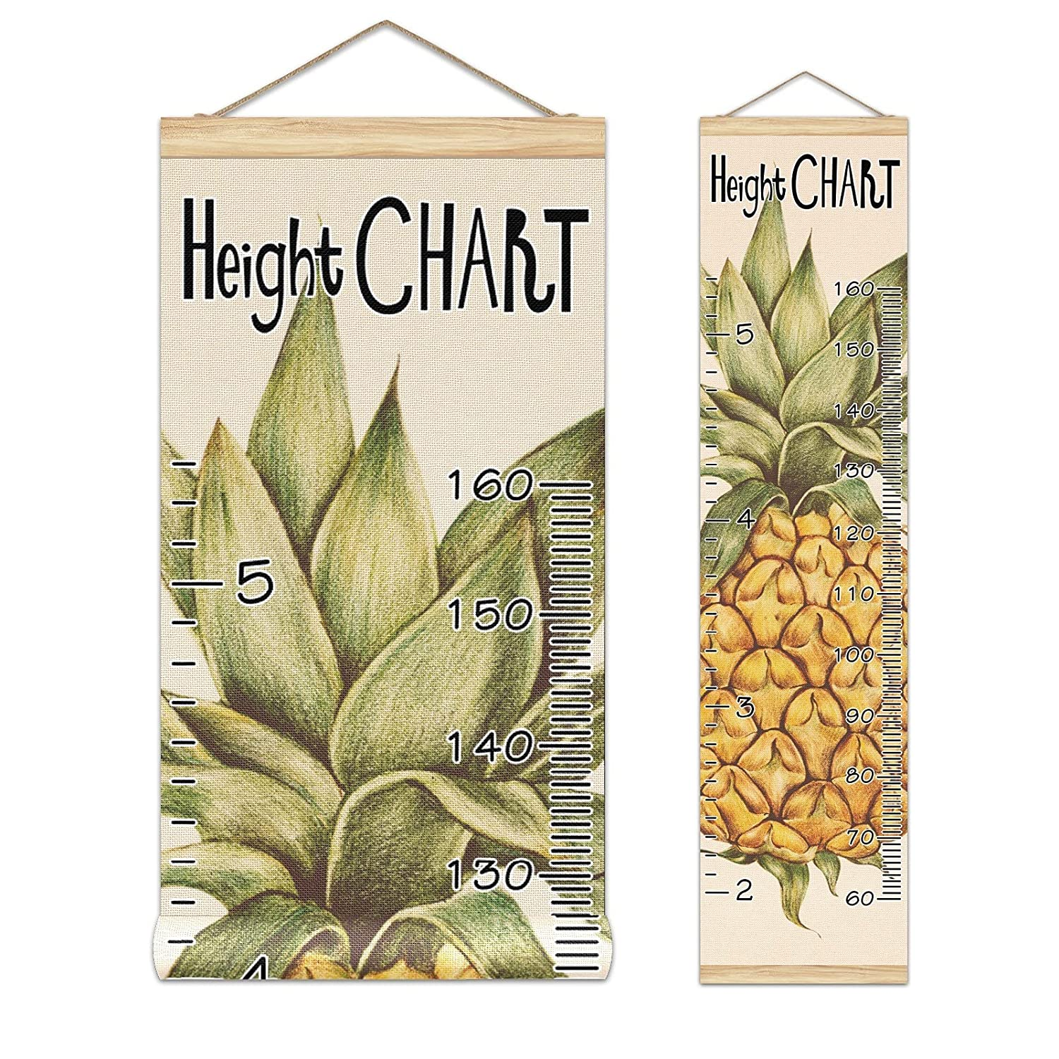 Growth Ranking TOP6 Chart Kid's Height Pineapple Watercolor Char