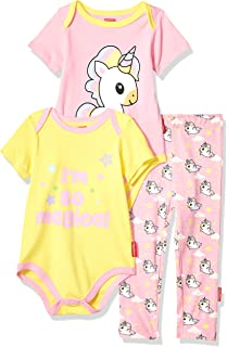 Fisher-Price Unisex-Baby 3-Piece Bodysuit and Pant Set Layette Set