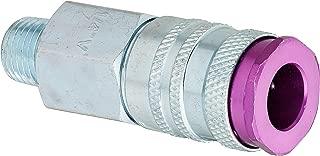 ColorFit by Milton HIGHFLOWPRO 765VC Pneumatic Coupler - (V-Style, Purple) - 1/4