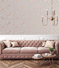 Graham & Brown 106401 Milan Texture Rose Gold and Grey Wallpaper, 1000cm length x 52cm Wide
