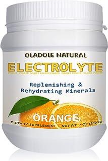 Oladole Natural Electrolyte Powder with Vitamin C, High Energy, Replenish & Rejuvenate Your Cells 200g - 7oz (Orange)