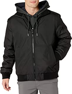 Calvin Klein Men's Water and Wind Resistant Rip Stop Bomber Jacket