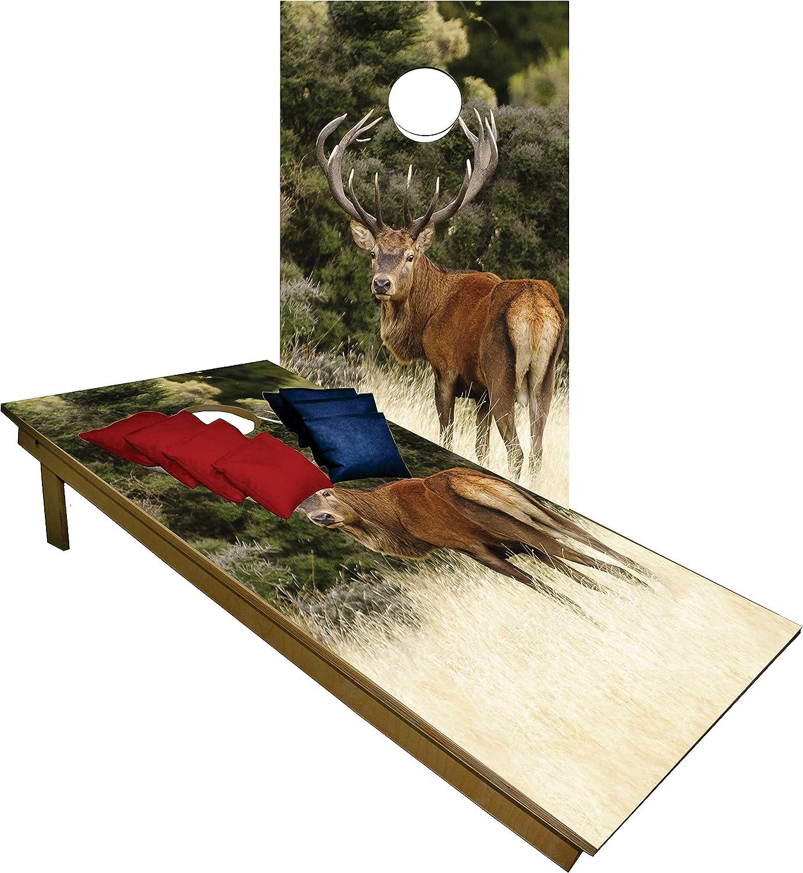 Premium Cornhole Set Dealing full price reduction - Deer S Tailgate [Alternative dealer] Hunting Boards w