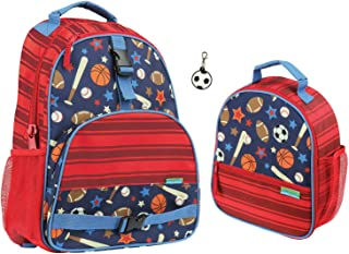 Stephen Joseph Kids Sports Backpack and Lunch Box with Zipper Pull
