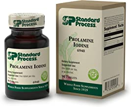 Standard Process - Prolamine Iodine - Supports Healthy Iodine Levels, Healthy Thyroid Function, Calcium, Iodine, Gluten Free and Vegetarian - 90 Tablets