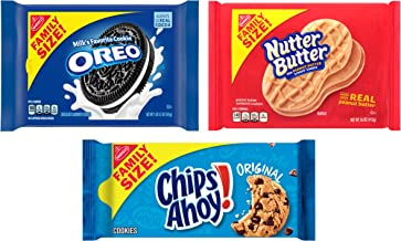 OREO, CHIPS AHOY! & Nutter Butter Cookie Variety Pack, Family Size, 3 Packs