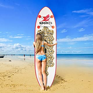 """Inflatable Stand Up Paddle Board 6"""" Thick with Free Premium SUP Accessories & Backpack Wide Stance, Bottom Fin for Paddlin..."""