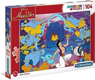 Clementoni Super Color Disney Aladdin 104 -Pieces Puzzle, Multi-Colour,27283
