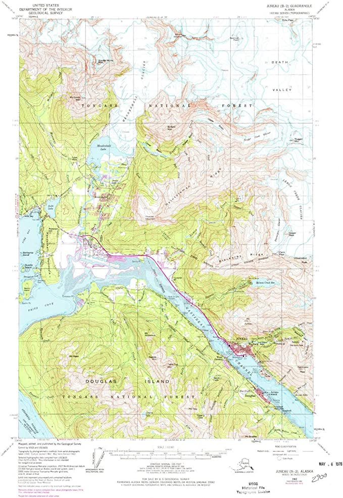 1 X 3 Degree 1:250000 Scale Historical YellowMaps Anchorage AK topo map 23.2 x 30.4 in Updated 1966 1962