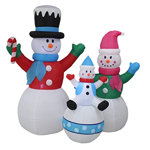 6 Foot Tall Christmas Inflatable Snowman Snowmen Family Lighted Yard Decoration Decorations Outdoor Snowman: Amazon.com