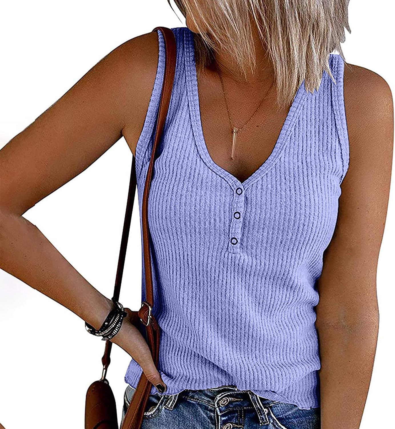 Gerichy Tank Tops for Women, Womens Casual Summer Sleeveless Plus Size Loose Tank Tops Tees Shirts Blouses Tunics