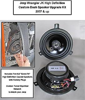 1 Pair Speaker Upgrade 6.5 Two-Way Speaker for 2007-2018 Wrangler JK JKU