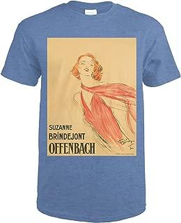 Suzanne Brindejont Offenbach Vintage Poster (artist: Domergue) France c. 1932 61563 (Heather Royal T-Shirt X-Large)