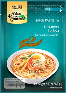 Asian Home Gourmet Spice Paste for SINGAPORE LAKSA - Coconut Curry noodles. (Pack of 3)