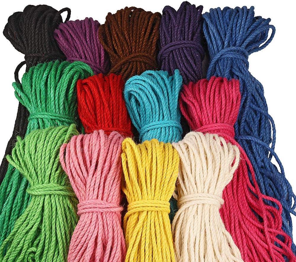 Max 90% OFF 100 Max 68% OFF Meters 5mm Natural Jute Rope Cord Hemp Twine Colored Burlap