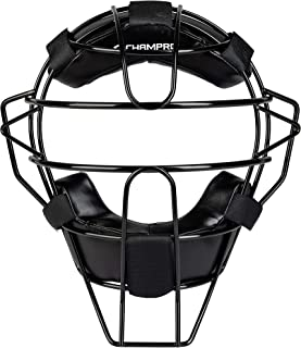Champro Adult Solid Baseball Umpire Face Mask Ergo Fit Pads 800ml Black CM63B