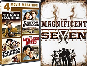Guns Rangers & Raiders Western DVD 8 Pack: The Magnificent Seven Collection Return / Ride (4 DVD Set) & Movie Marathon Texas / Kansas / Lawless Breed / Canyon Passage Feature Film DVD Bundle