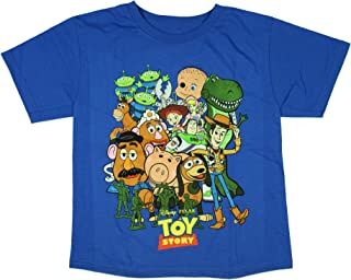 Disney Toy Story Boys' Shirt Buzz Light Year Woody Aliens Jessie Rex T-Shirt