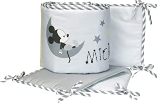 Lambs & Ivy Disney Baby Mickey Mouse 4-Piece Crib Bumper, Gay/White