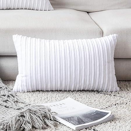 Winter Decor Pillow Covers Thanksgivining Soft Decorative Striped Corduroy Velve