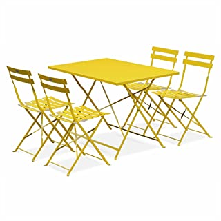 Amazon.fr : table bistrot ronde - Jaune