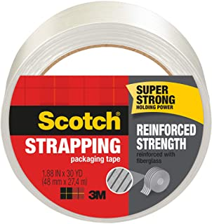 Scotch Brand Strapping Tape, 1.88 x 30 Yards (8950-30), Clear/White