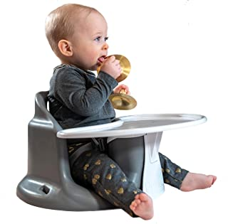 Upseat Floor & Booster Seat with Tray (Grey), Baby Seat, Highchair