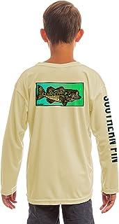 Southern Fin Apparel Youth Fishing Shirt for Kids Boys Girls Long Sleeve UV