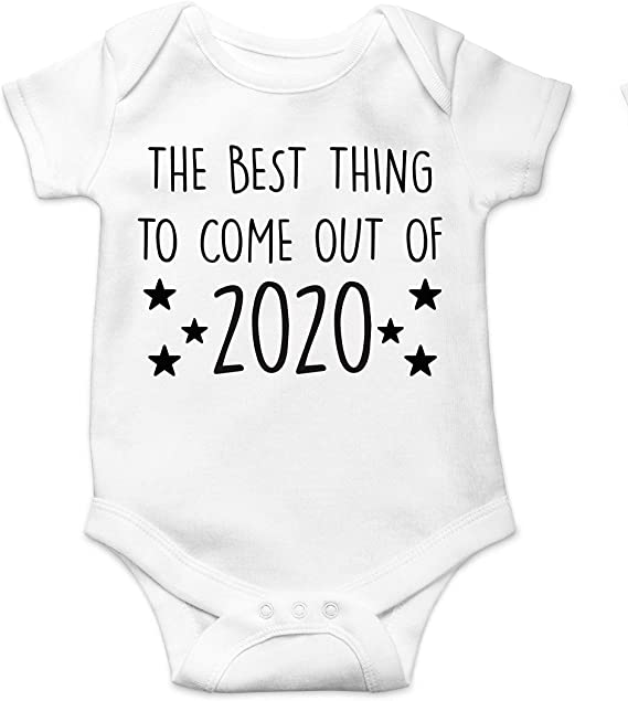 baby clothes Lockdown gift 100/% organic cotton vest Best thing to come out of 2020 baby body suit