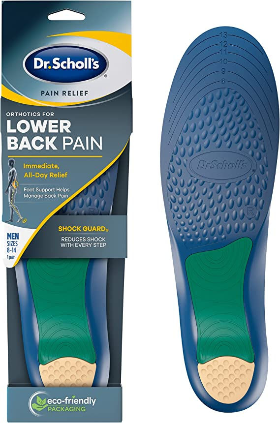 Dr. Scholl's LOWER BACK Pain Relief Orthotics // Clinically Proven Immediate and All-Day Relief of Lower Back Pain (for Men's 8-14, also available for Women's 6-10)