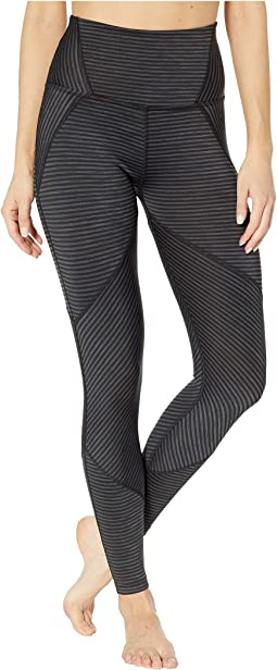 True To Stripe High-Waisted Midi Leggings