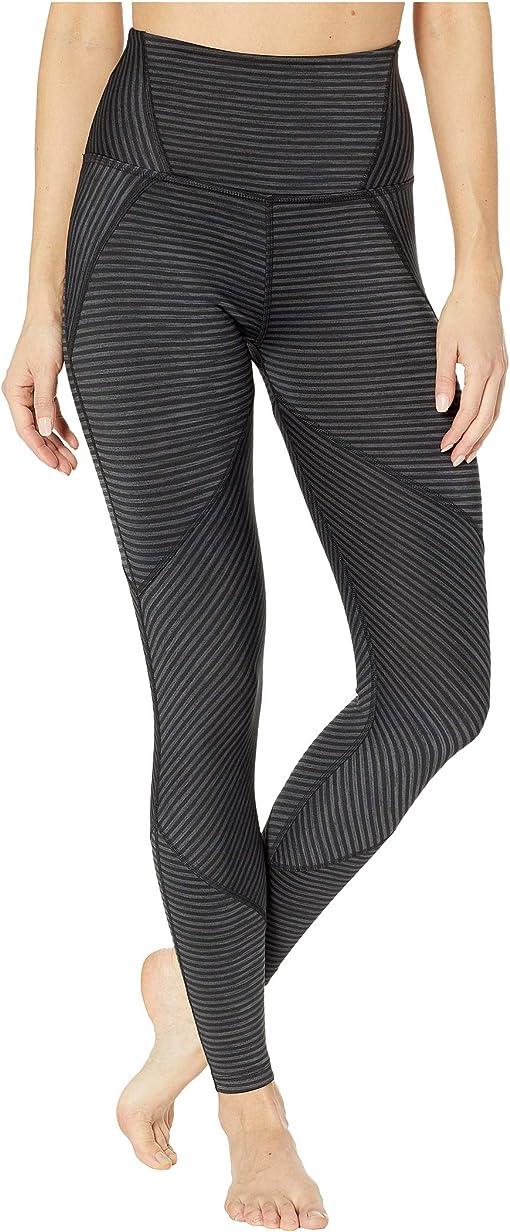 Black Heather Surf Stripe