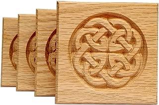Set of 4: Carved Celtic