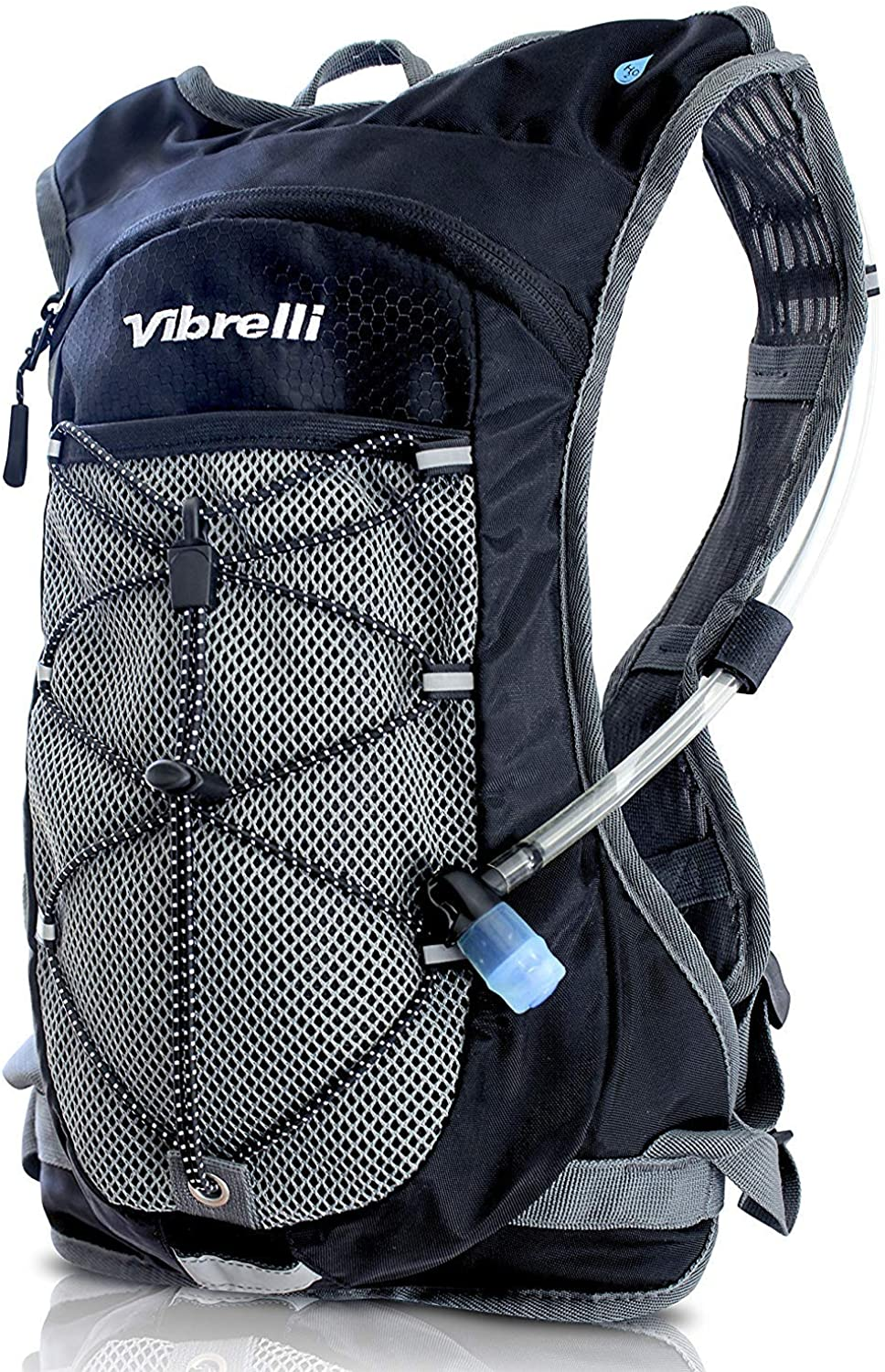 LAUNCH DEAL  Performance Hydration Pack by Vibrelli  BONUS 2.0L Hydration Bladder  Perfect Hydration Backpack for Running, Hiking, Cycling. Water Backpack