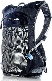 Vibrelli Hydration Pack & 2L Hydration Water Bladder – High Flow Bite Valve..