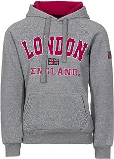 Sudadera con capucha para mujer, con impresión de la bandera de Inglaterra y el mensaje impreso «London» y «England», con capucha, gran calidad