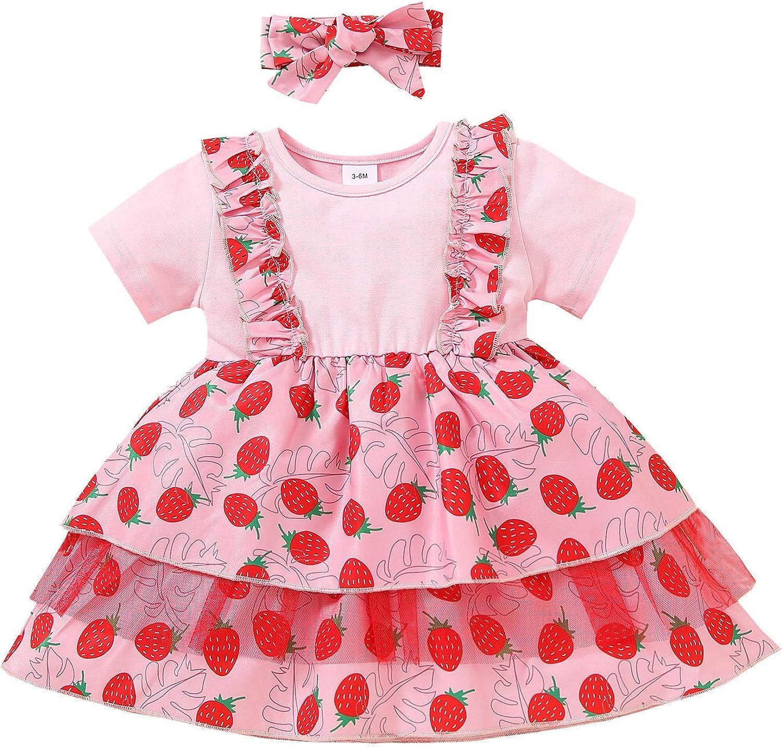 Fankle Toddler Baby Girl Love 5% OFF Heart Sets Suspender Long-awaited Print Skirt S