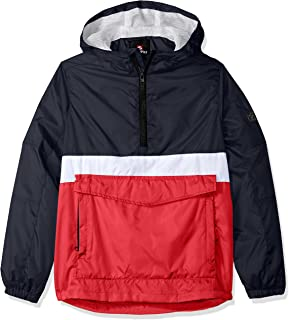 Southpole Boys' Big Anorak Colorblock Water Resistance Hooded Pullover