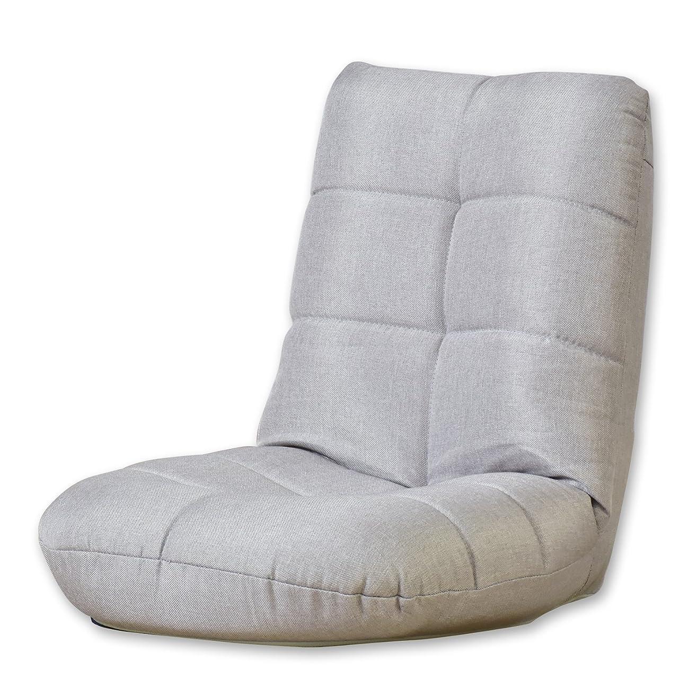 正確さ慢なんとなくDORIS 座椅子 コンパクト 軽量 パックン座椅子 かわいい 子供 グレー ラッコミニ