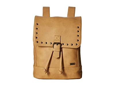 Roxy Same Dreams Extra-Small Faux-Leather Backpack (Camel) Backpack Bags