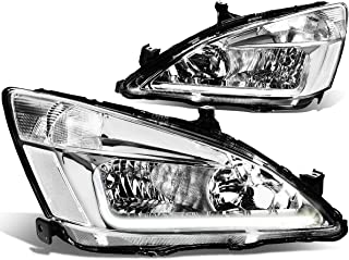 DNA Motoring HL-LB-HA03-CH-CL1 Chrome clear automotive-headlight-assemblies